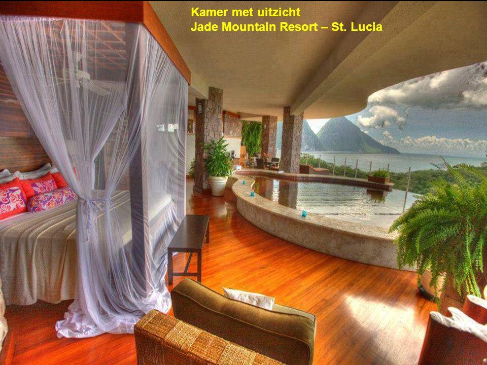Kamer met uitzicht Jade Mountain Resort – St. Lucia