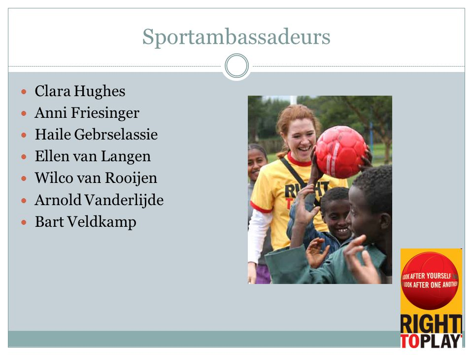 Sportambassadeurs Clara Hughes Anni Friesinger Haile Gebrselassie
