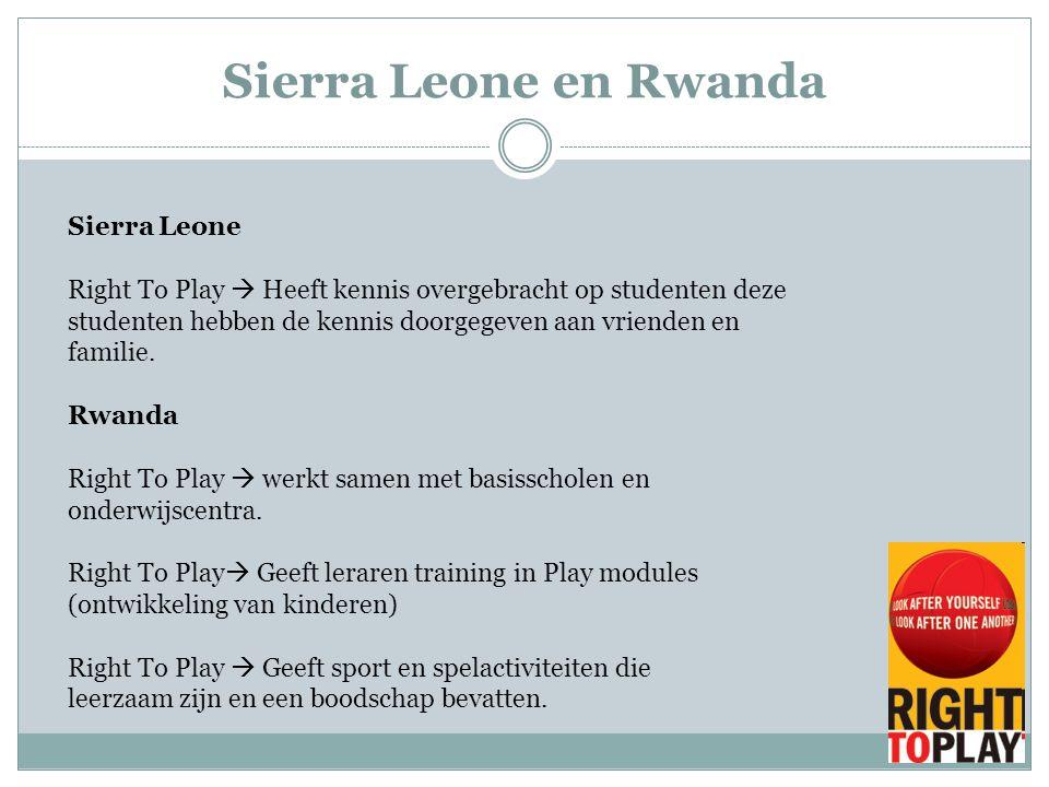 Sierra Leone en Rwanda Sierra Leone