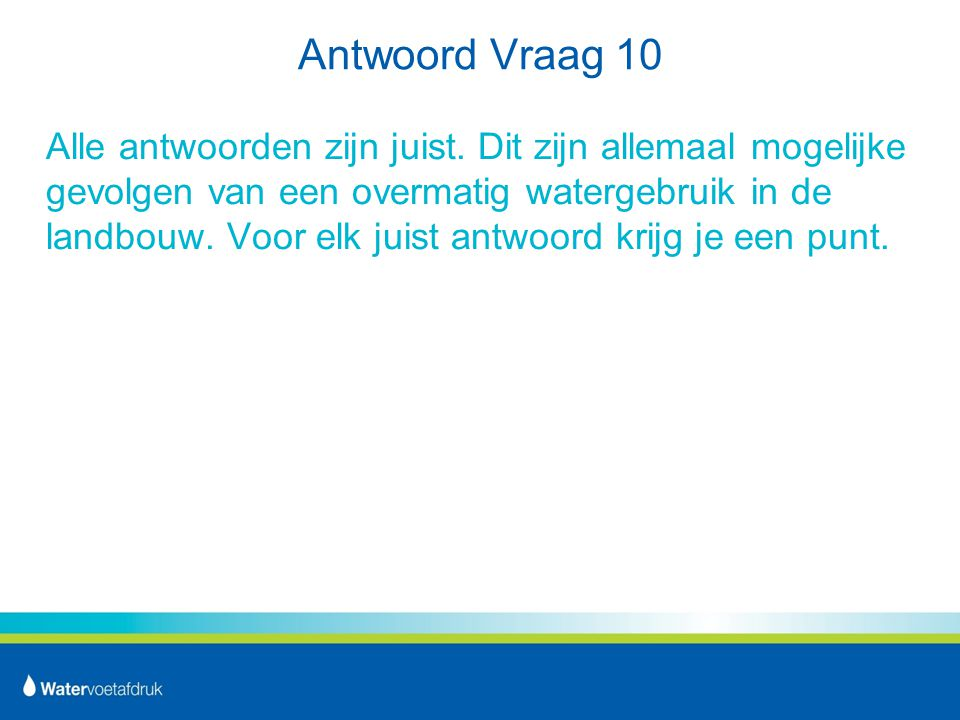 Antwoord Vraag 10