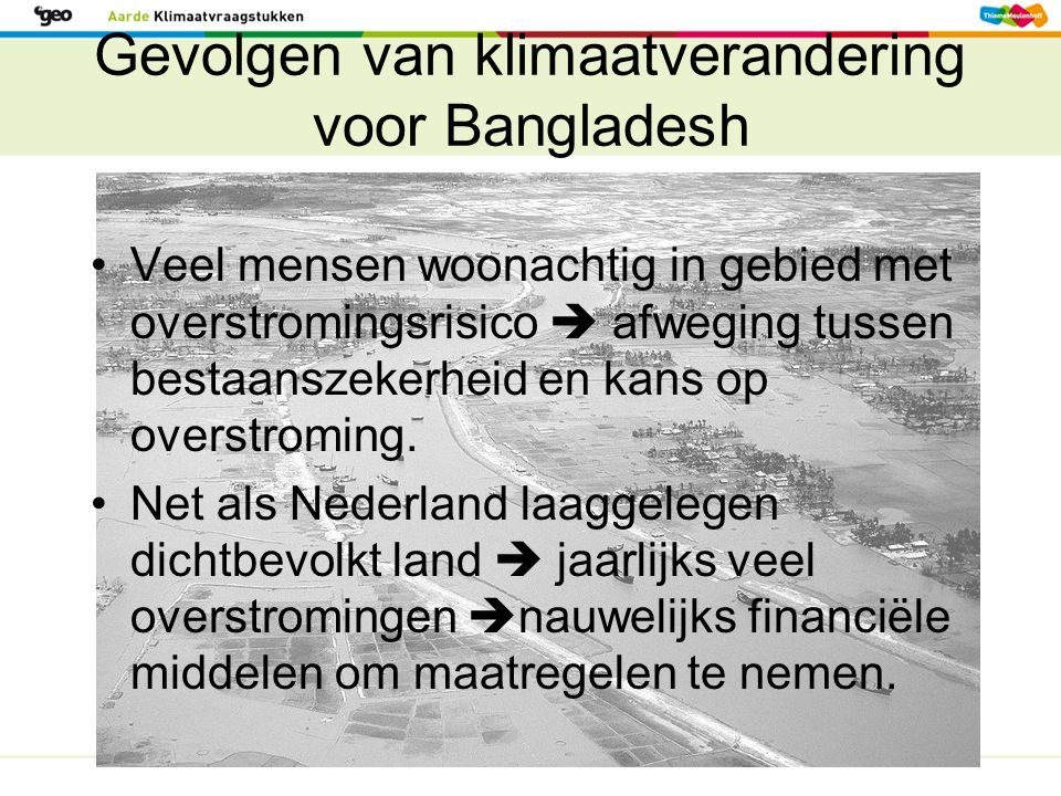 Gevolgen van klimaatverandering voor Bangladesh