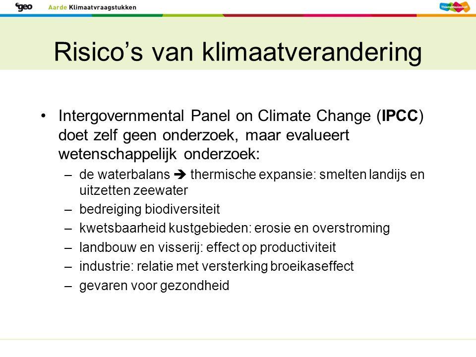 Risico's van klimaatverandering