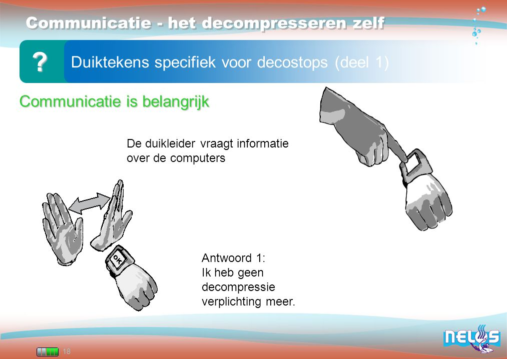 Communicatie - het decompresseren zelf