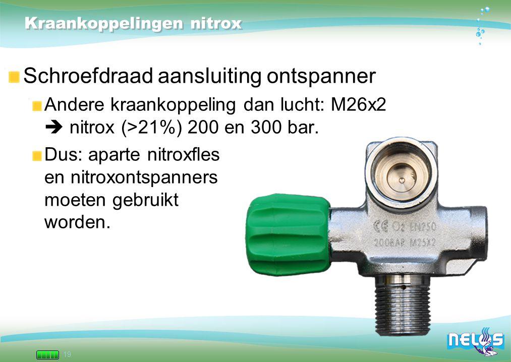 Kraankoppelingen nitrox
