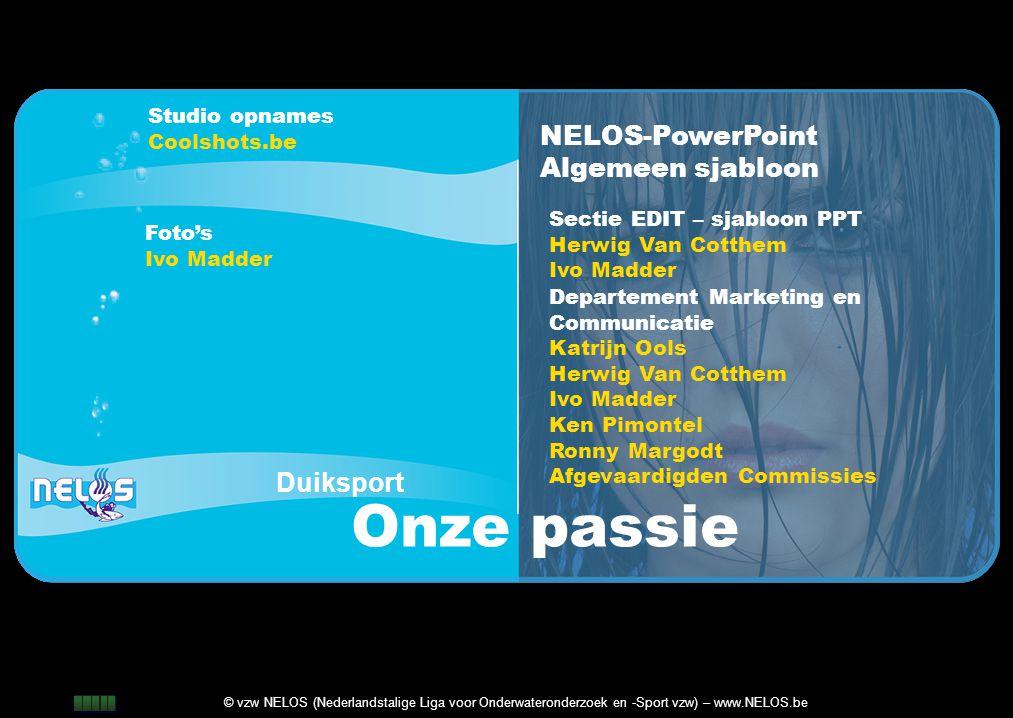 Onze passie NELOS-PowerPoint Algemeen sjabloon Duiksport