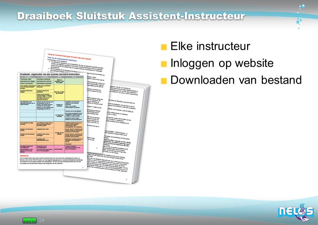Draaiboek Sluitstuk Assistent-Instructeur