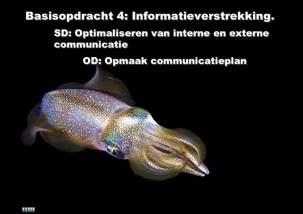 Basisopdracht 4: Informatieverstrekking