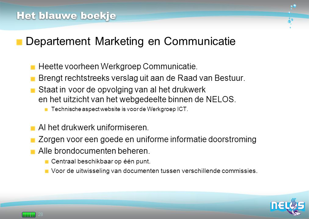 Departement Marketing en Communicatie