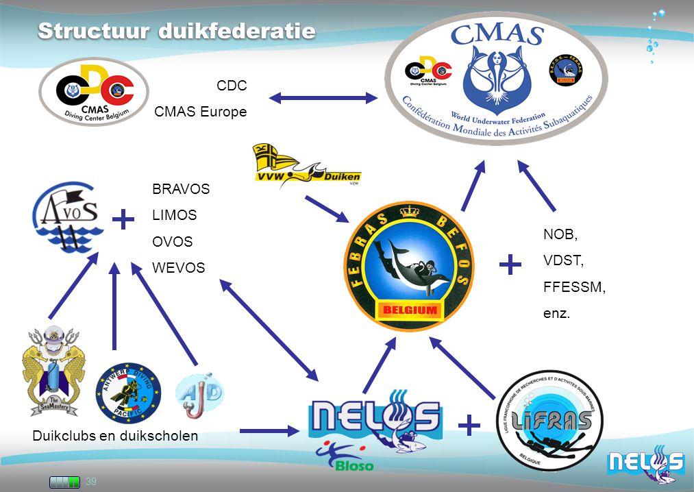 Structuur duikfederatie