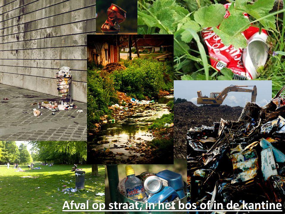 Afval op straat, in het bos of in de kantine
