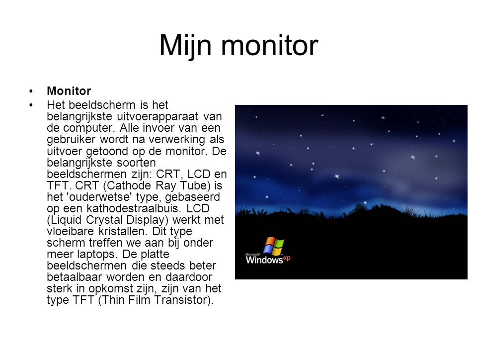 Mijn monitor Monitor.