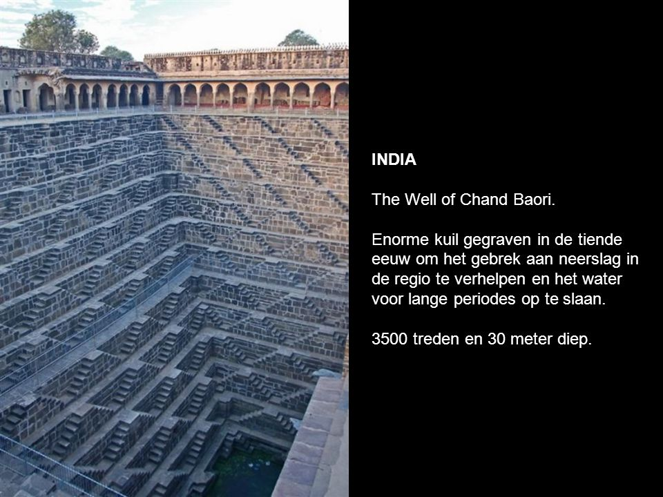 INDIA The Well of Chand Baori