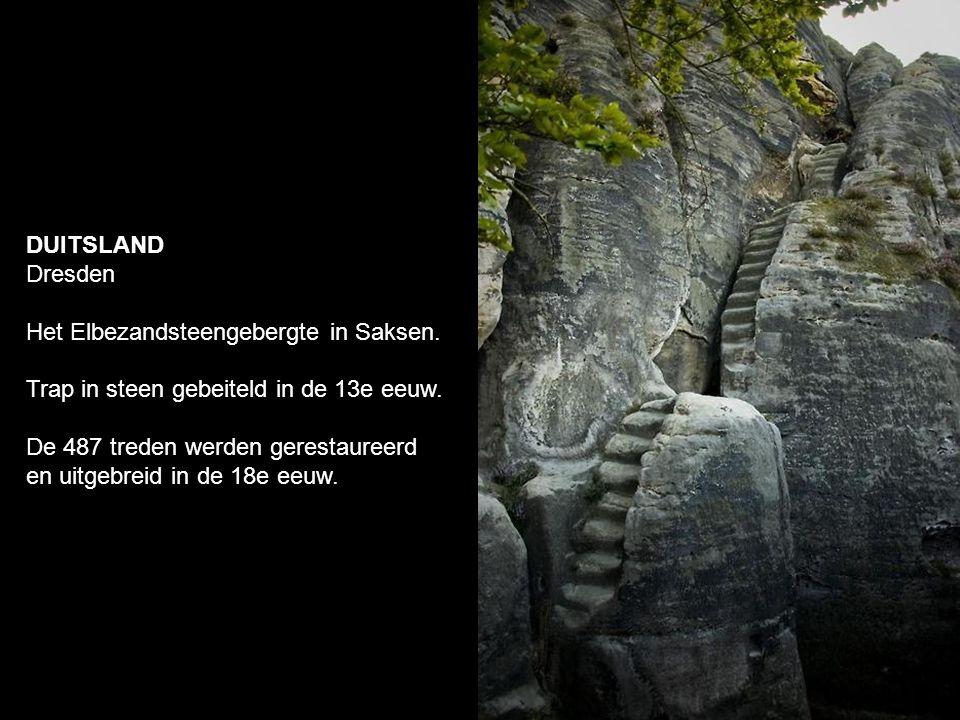 DUITSLAND Dresden Het Elbezandsteengebergte in Saksen.