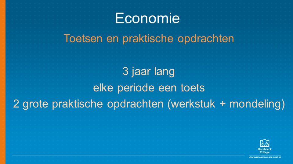 Economie Toetsen en praktische opdrachten 3 jaar lang