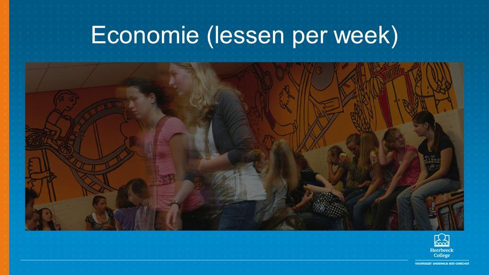 Economie (lessen per week)