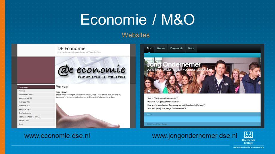 Economie / M&O Websites www.economie.dse.nl www.jongondernemer.dse.nl