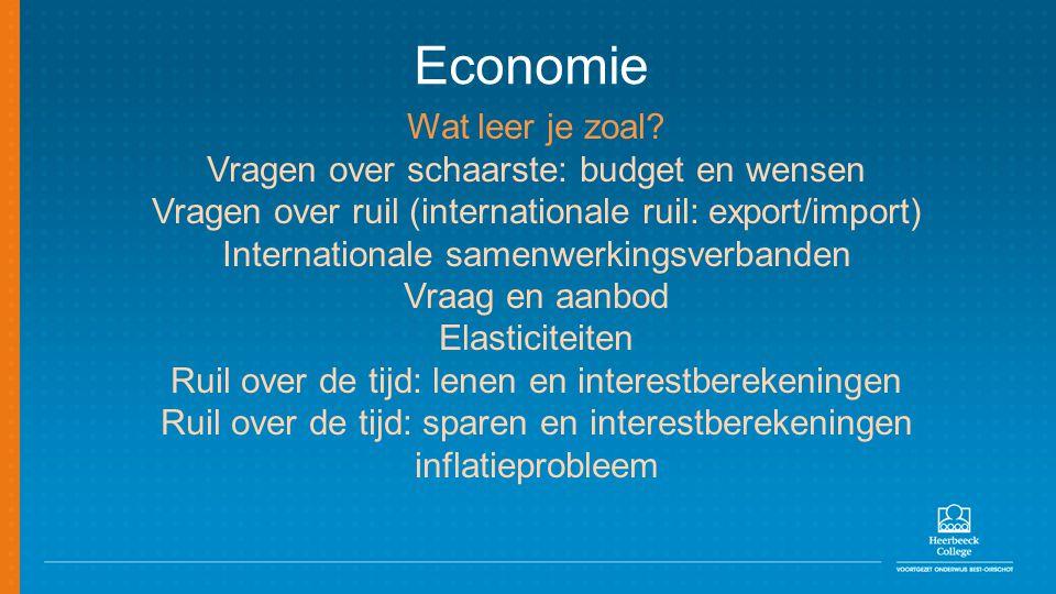 Economie Wat leer je zoal Vragen over schaarste: budget en wensen