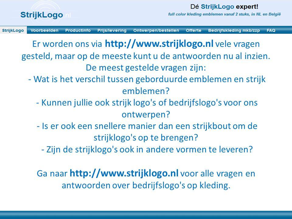 Er worden ons via http://www. strijklogo