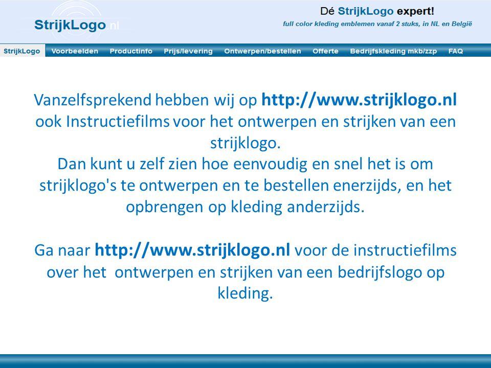 Vanzelfsprekend hebben wij op http://www. strijklogo