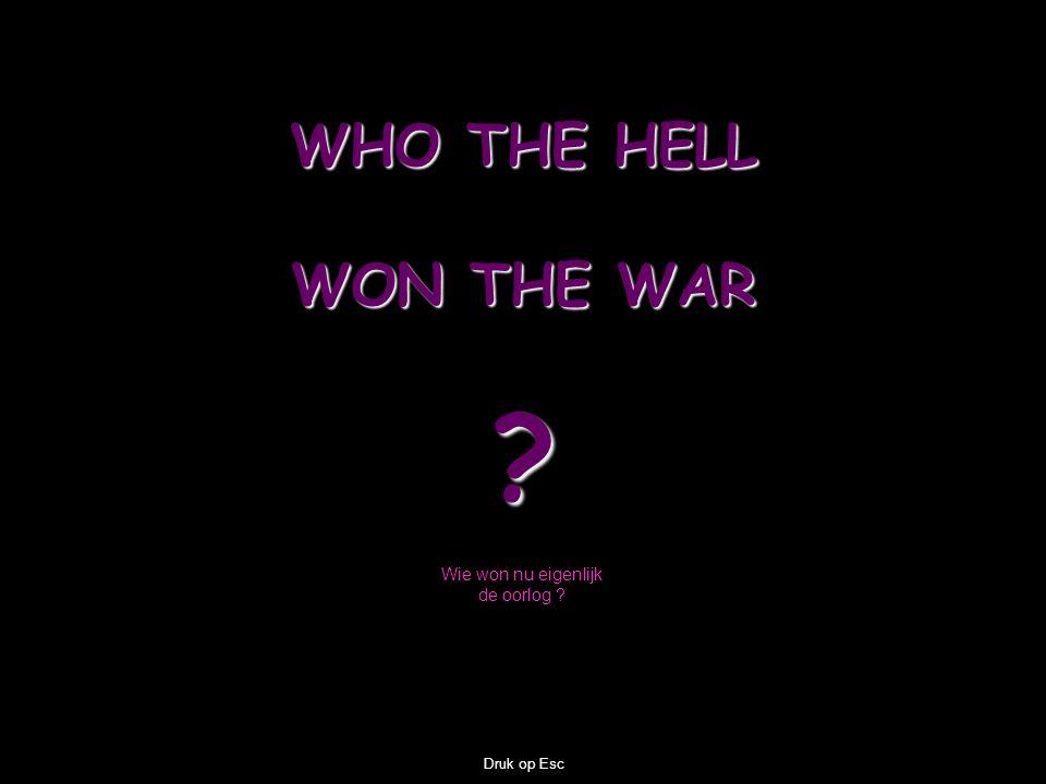 Wie won nu eigenlijk de oorlog