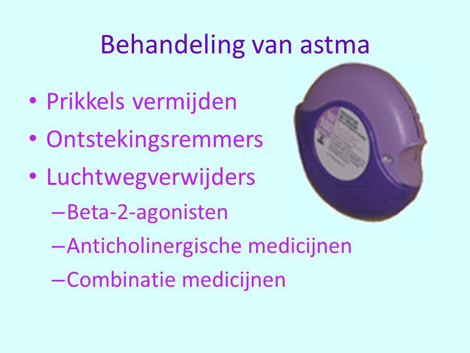 Behandeling van astma Prikkels vermijden Ontstekingsremmers
