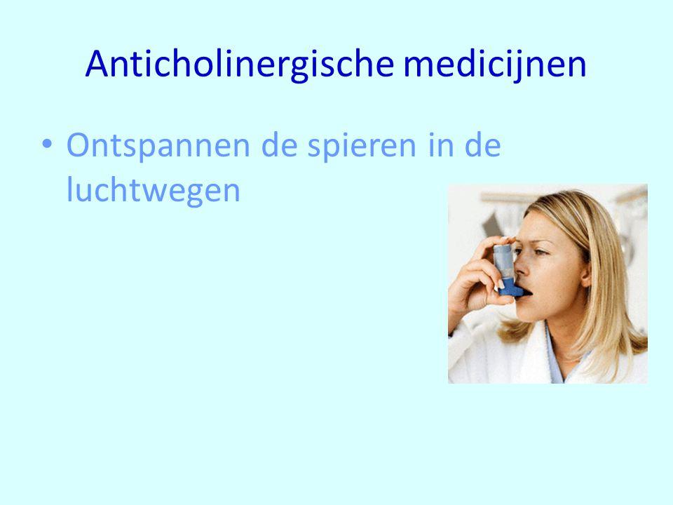 Anticholinergische medicijnen