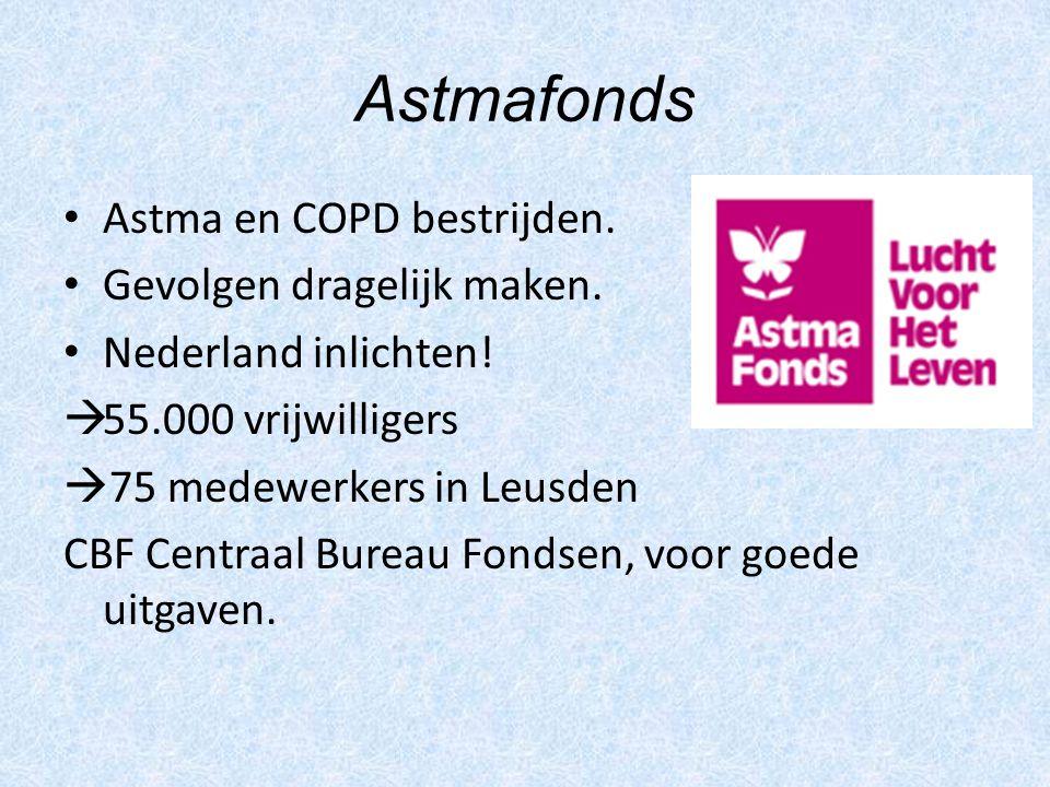 Astmafonds Astma en COPD bestrijden. Gevolgen dragelijk maken.