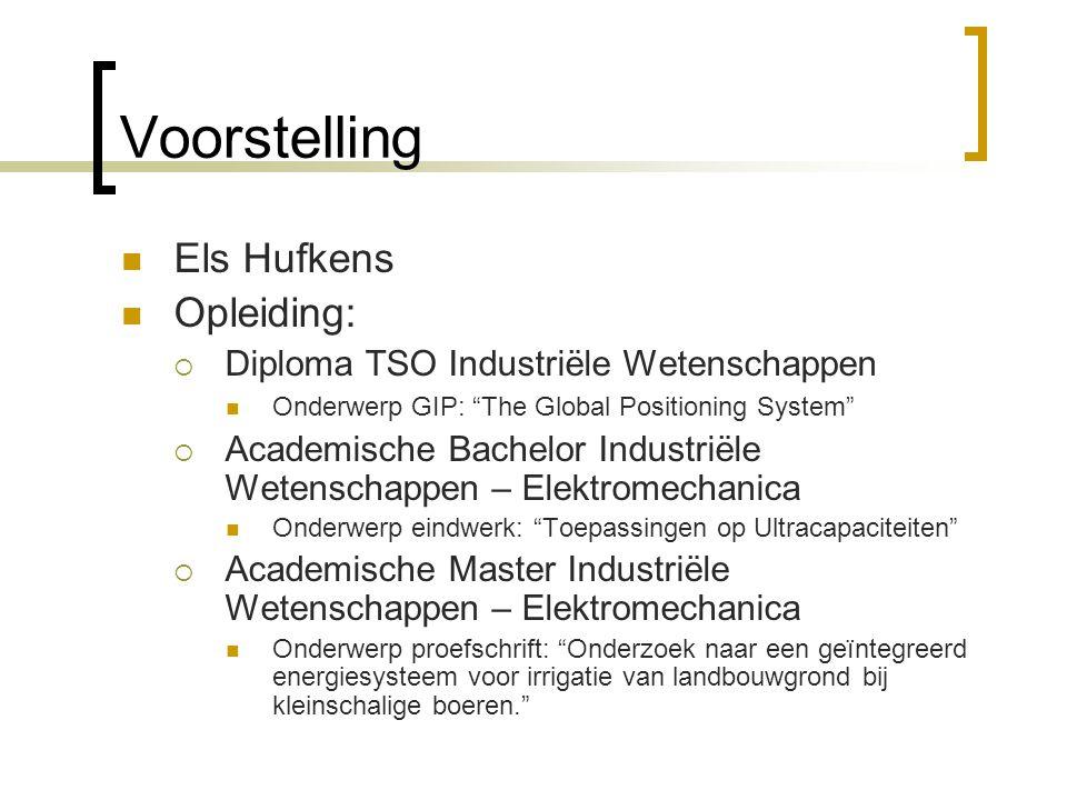 Voorstelling Els Hufkens Opleiding: