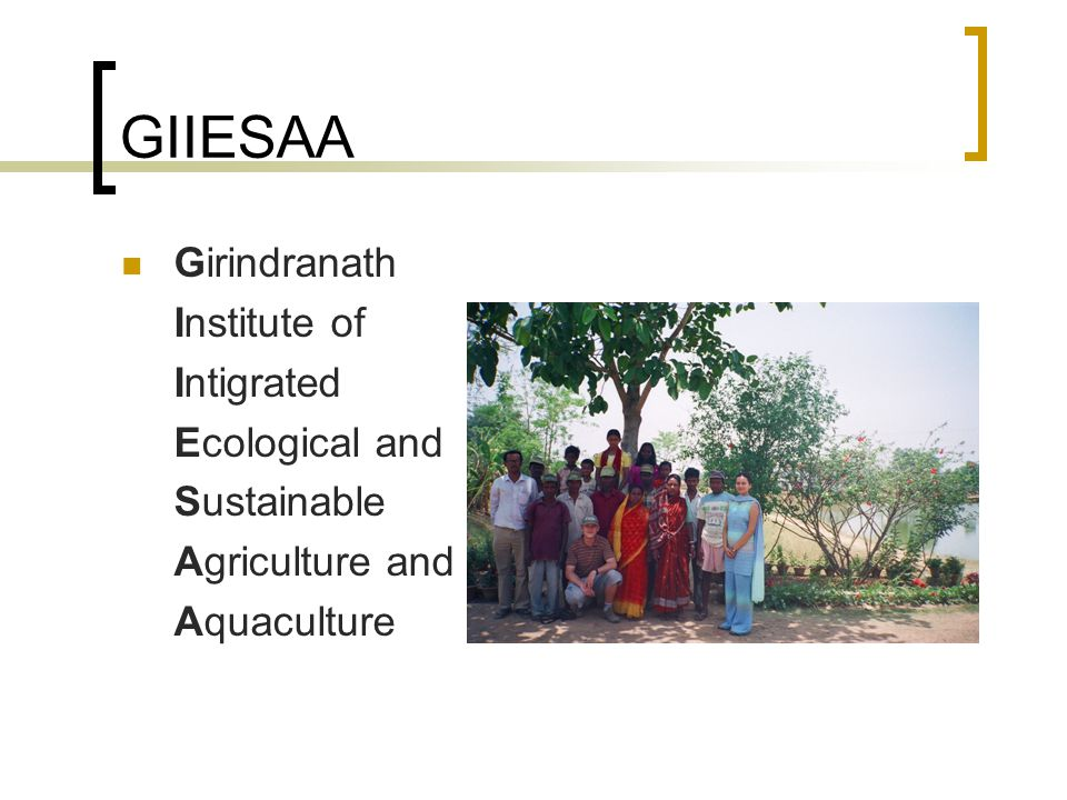 GIIESAA Girindranath Institute of Intigrated Ecological and