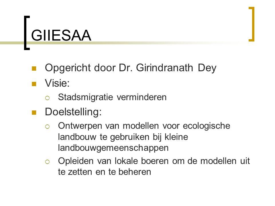GIIESAA Opgericht door Dr. Girindranath Dey Visie: Doelstelling: