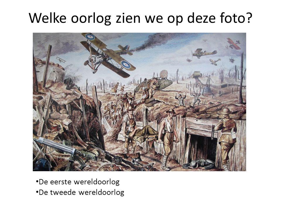 Welke oorlog zien we op deze foto