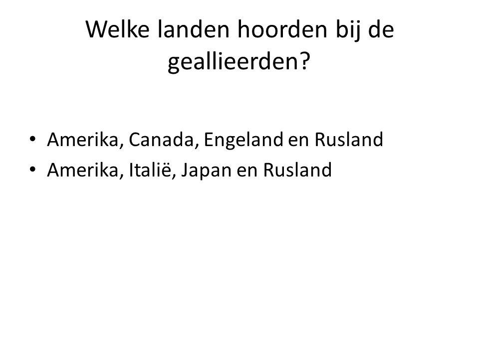 Welke landen hoorden bij de geallieerden