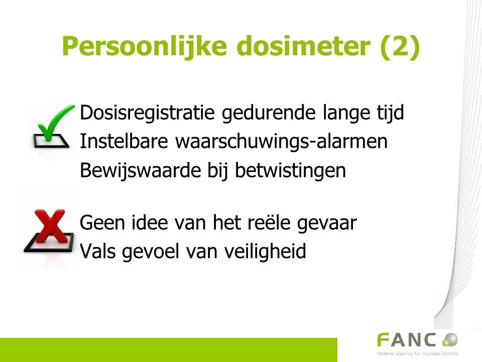 Persoonlijke dosimeter (2)