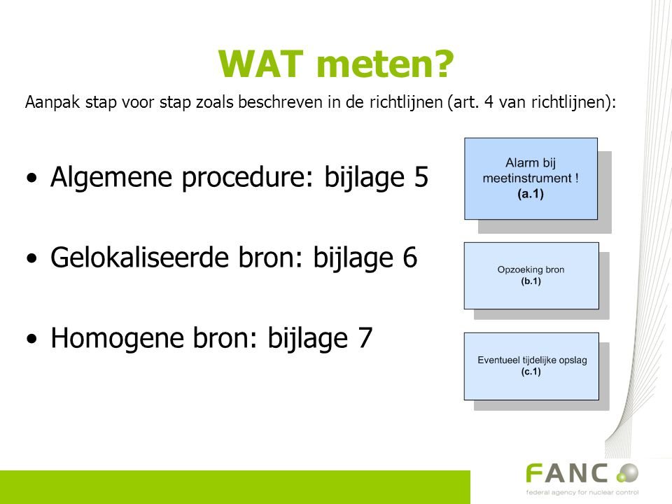 WAT meten Algemene procedure: bijlage 5