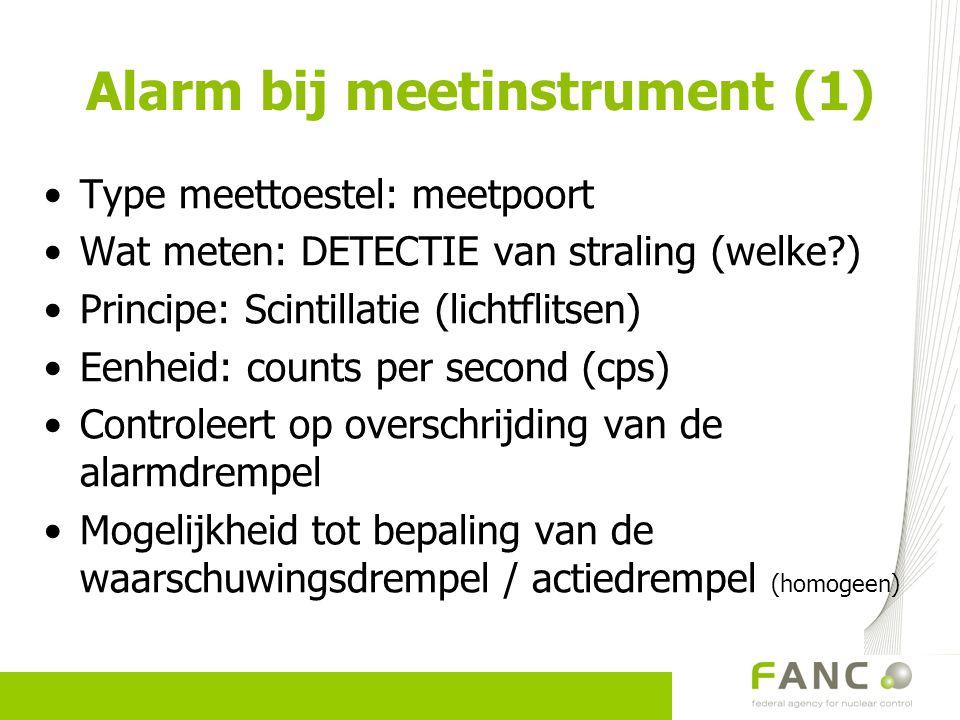 Alarm bij meetinstrument (1)