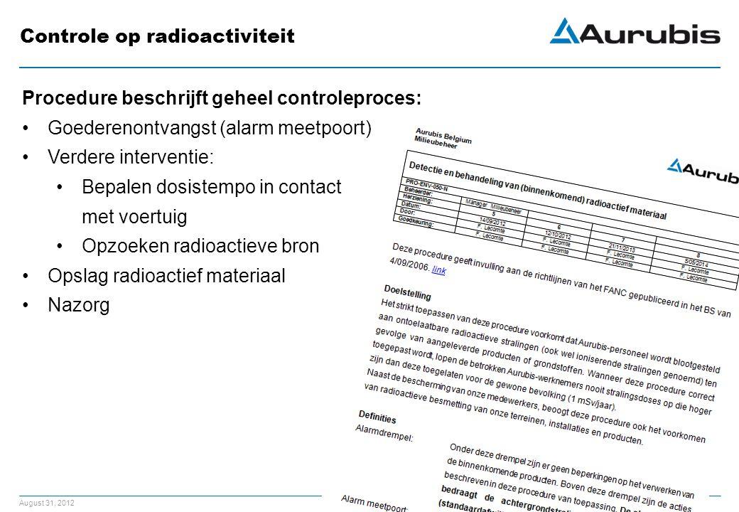 Controle op radioactiviteit