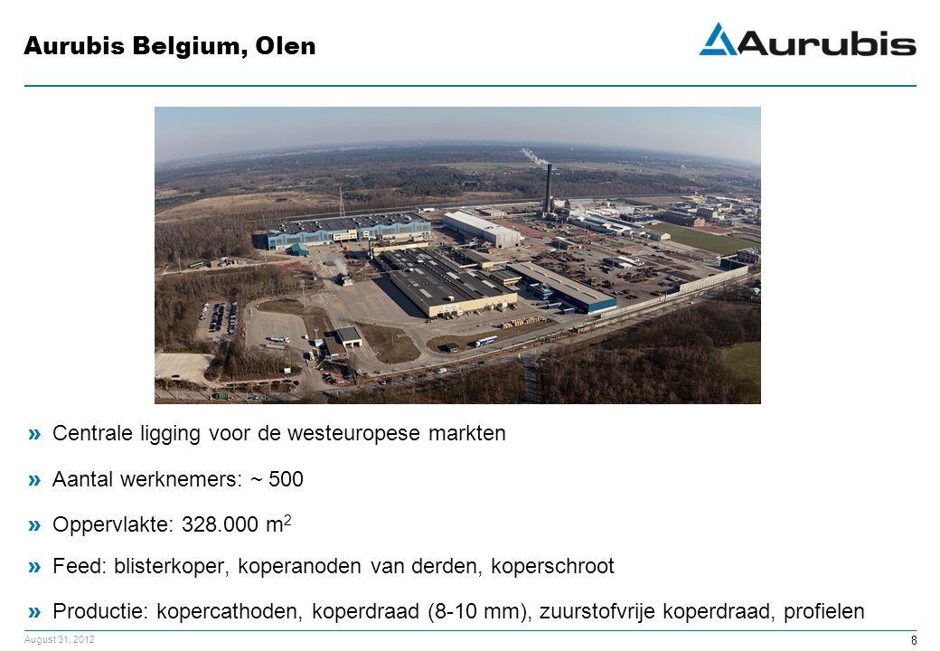 Aurubis Belgium, Olen Centrale ligging voor de westeuropese markten
