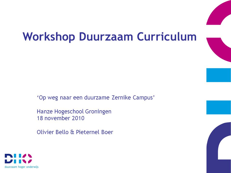 Workshop Duurzaam Curriculum