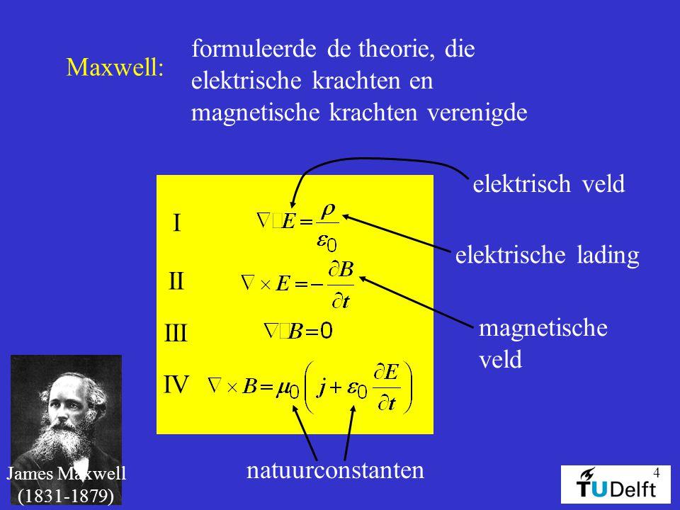 formuleerde de theorie, die elektrische krachten en