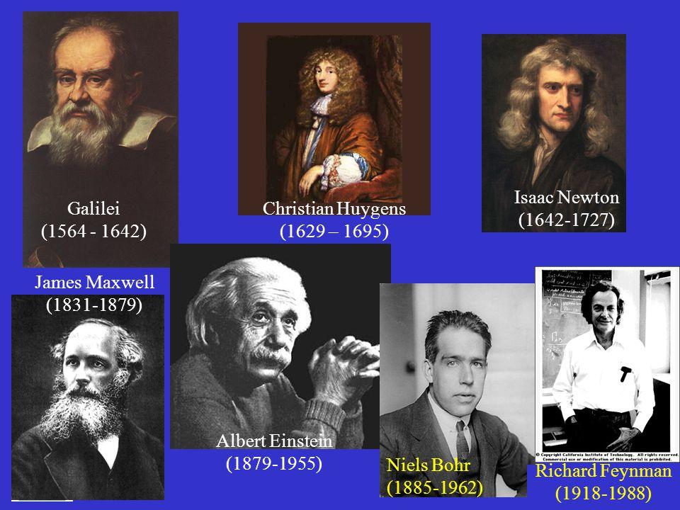 Isaac Newton (1642-1727) Galilei. (1564 - 1642) Christian Huygens. (1629 – 1695) James Maxwell.