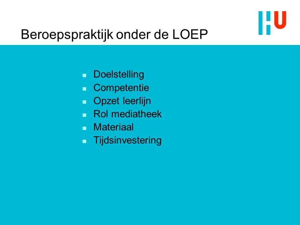 Beroepspraktijk onder de LOEP