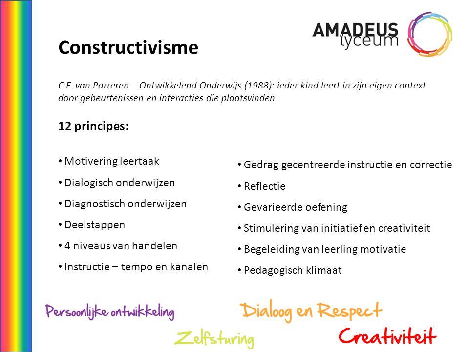 Constructivisme 12 principes: Motivering leertaak