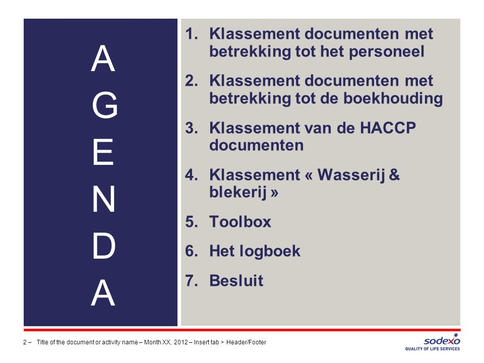 Klassement documenten met betrekking tot het personeel