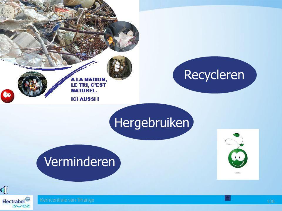 Recycleren Hergebruiken Verminderen Date Kerncentrale van Tihange 108