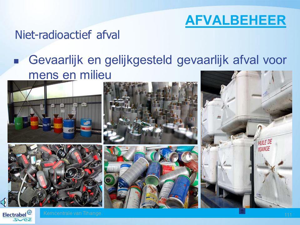 Date AFVALBEHEER. Niet-radioactief afval. Gevaarlijk en gelijkgesteld gevaarlijk afval voor mens en milieu.