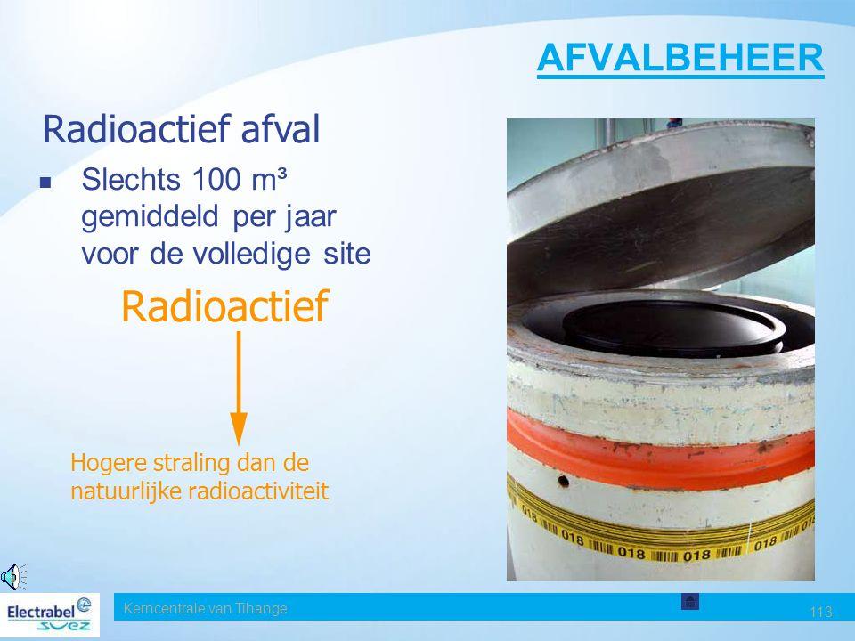 Radioactief AFVALBEHEER Radioactief afval