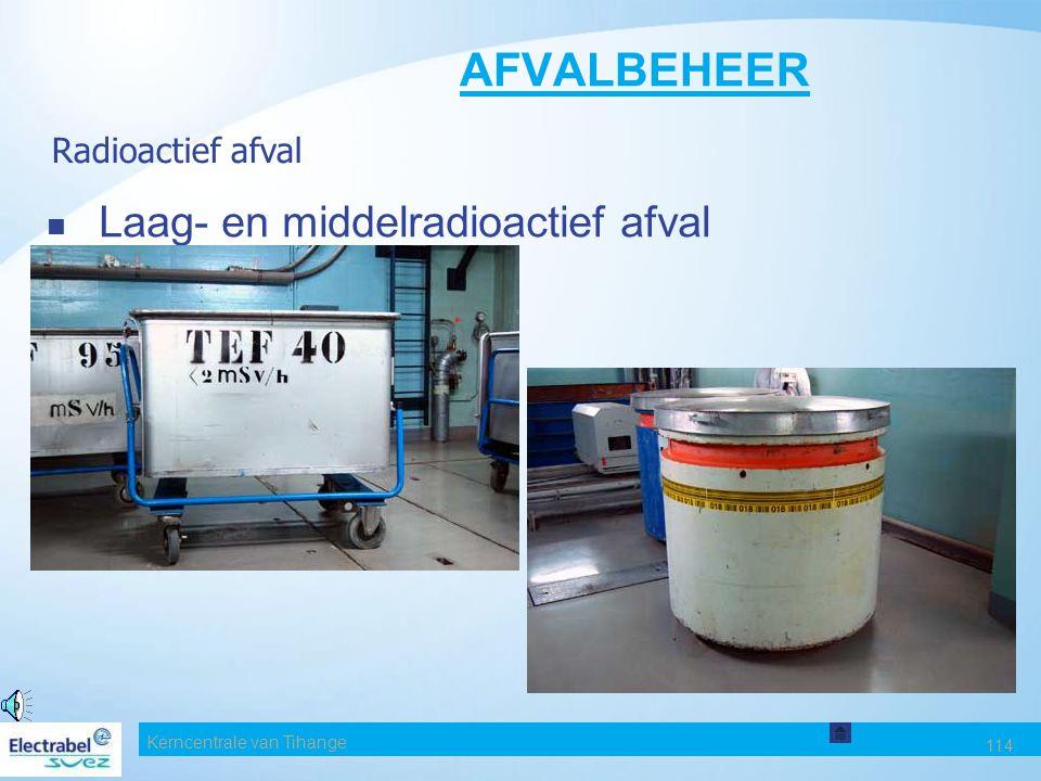 AFVALBEHEER Laag- en middelradioactief afval Radioactief afval Date