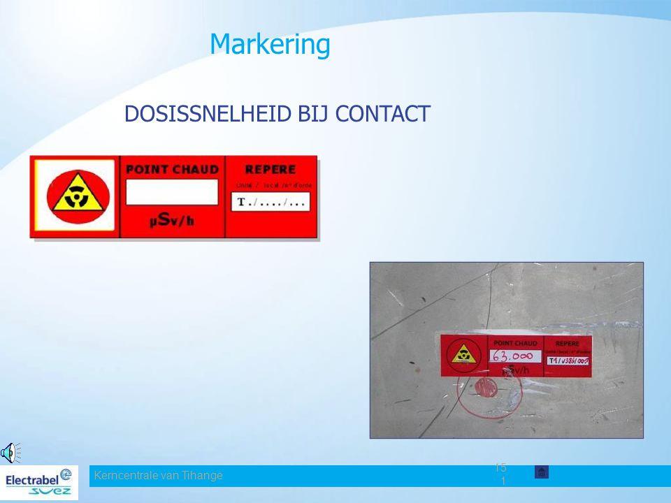 Markering DOSISSNELHEID BIJ CONTACT Date Kerncentrale van Tihange