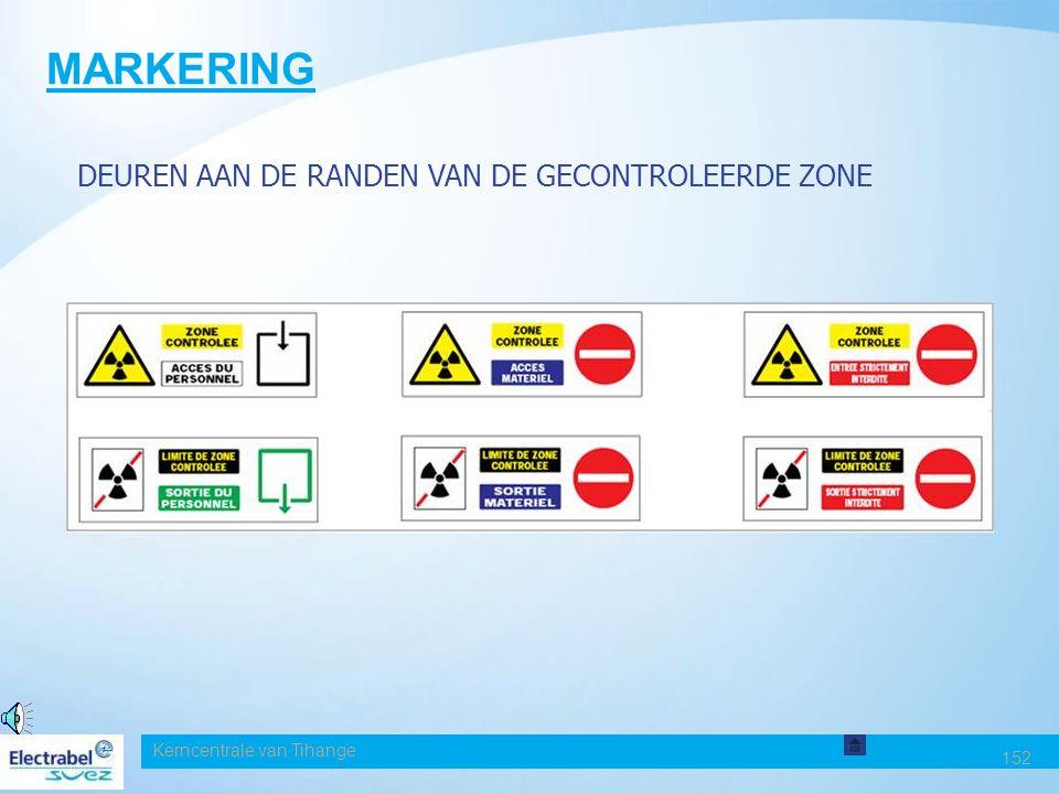 MARKERING DEUREN AAN DE RANDEN VAN DE GECONTROLEERDE ZONE Date