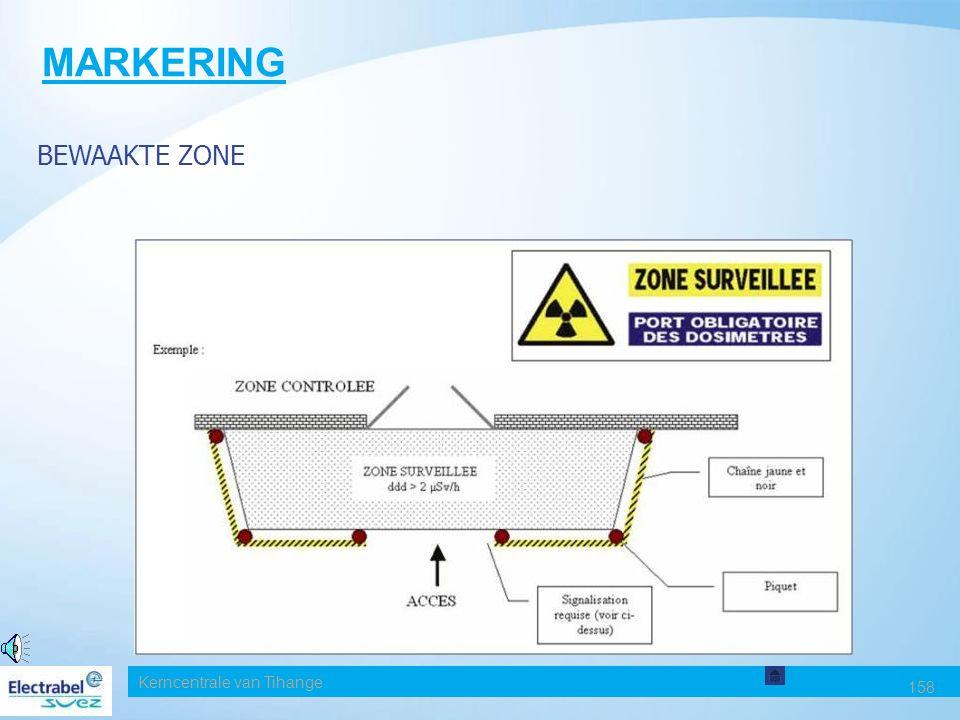 MARKERING BEWAAKTE ZONE Date Kerncentrale van Tihange 158